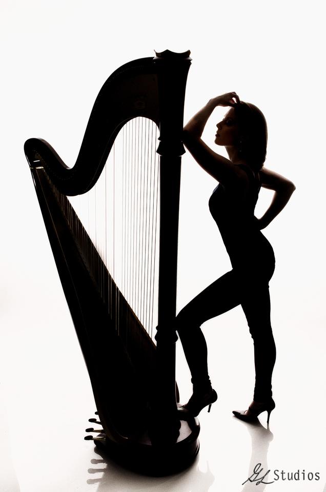harp, award, silhouette