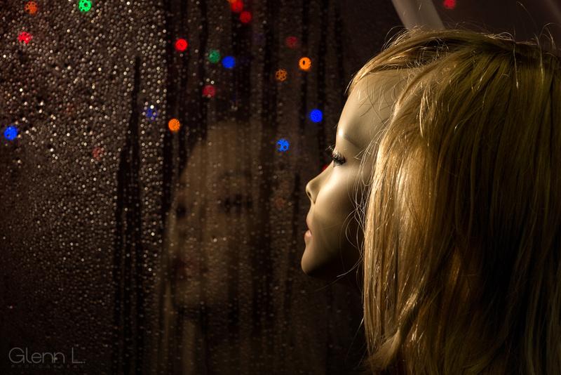dark rainy night in the studio