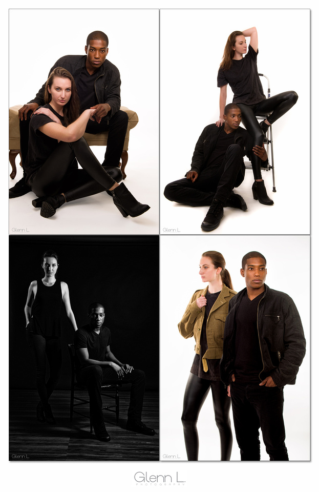 couple fashion photo collage